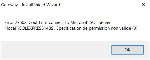 how to fix sql error 27502