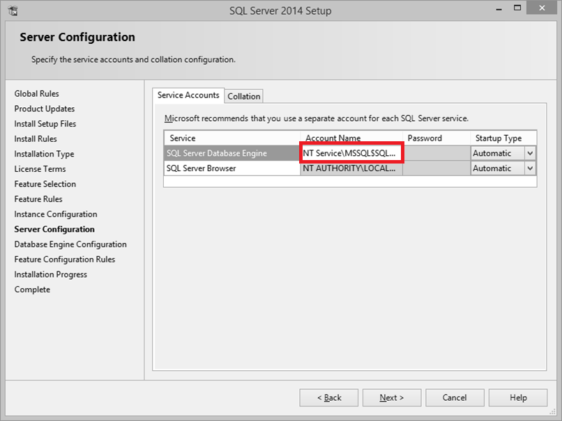 SQL Installation error: Could not find the Database Engine